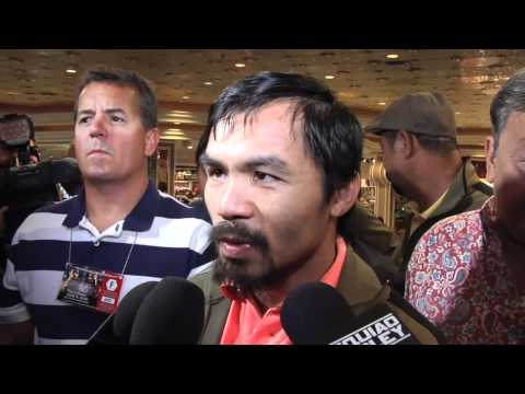 ESPN Interviews Manny Pacquiao from MGM Grand Lobby