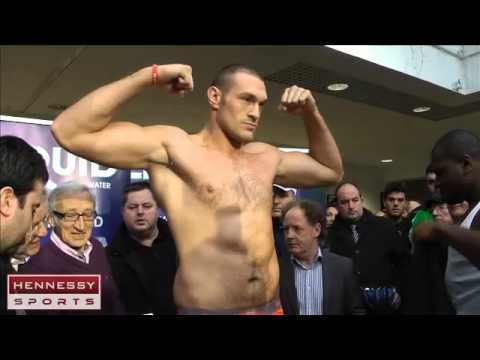 Weigh-In: Tyson Fury, 248, Kevin Johnson 240