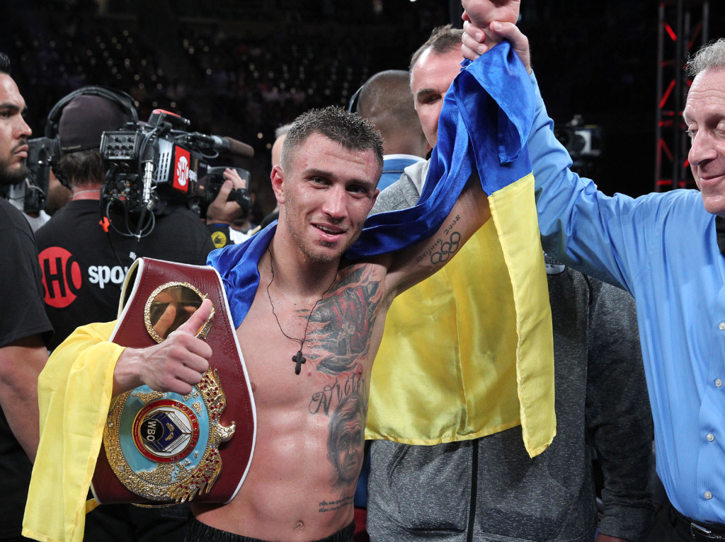 "Lomachenko RussellJr 140621 007a 1024x766 - Bob Arum: ""Lomachenko Technically Is The Best Fighter I've Seen Since Early Ali"""