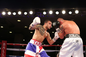 Under-card bout Super Middleweight Roberto Acevedo (Camo Trunks) lost to Jessie Hart (Blackw/white in the Ocean Ballroom, Bally's Atlantic City