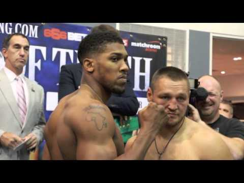 Heavyweight Weigh In: Anthony Joshua 236, Denis Bahktov 228