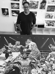 Dave with mayweather Painting