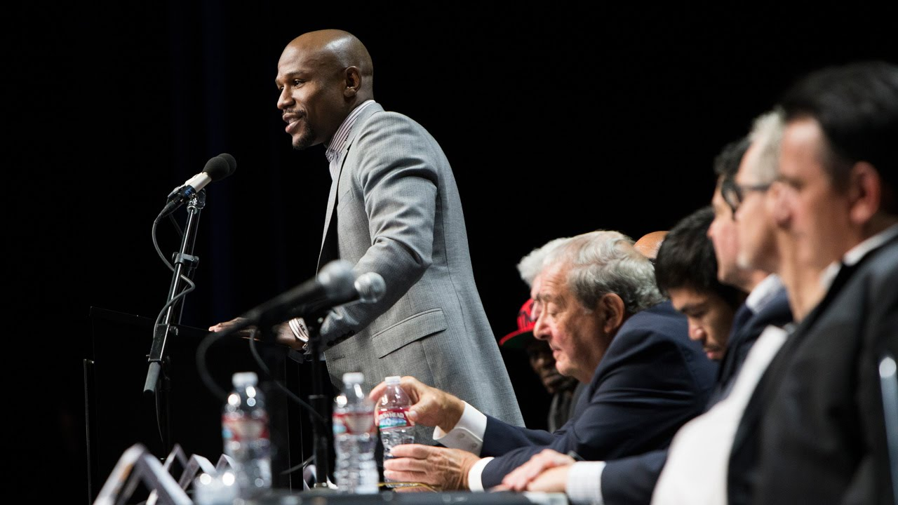 Watch The Floyd Mayweather vs Andre Berto Press Conf