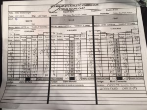Cotto-Alvarez score card