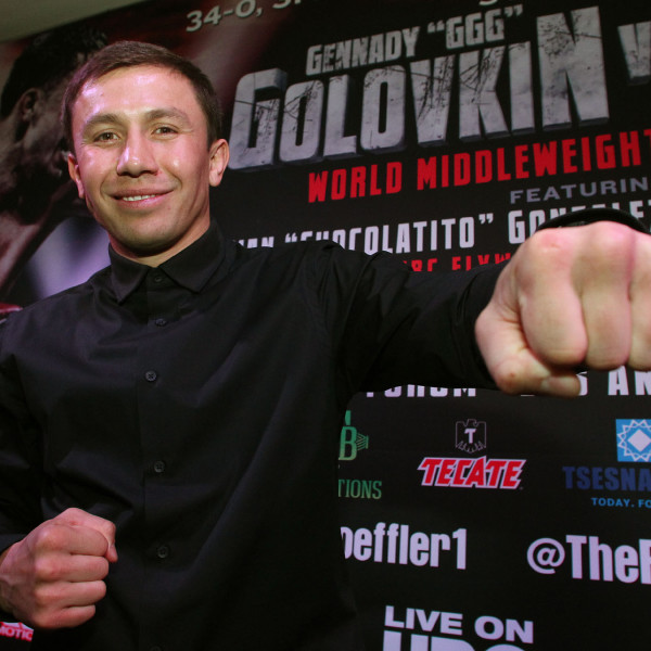 "Feb. 16, 2016 , Los Angeles,Ca. ---  Boxing Superstar and Unified World Middleweight Champion Gennady ""GGG""Golovkin, 34-0 (31KO's) and Undefeated Mandatory Challenger Dominic ""Lights Out"" Wade, 18-0 (12KO's) and their teams will take part in the UNDEFEATED Cross-Country Press Tour to formally announce their showdown set for Saturday,April 23 at the Fabulous Forum.     Joining Golovkin and Wade at the Los Angeles PressConference will be Consensus #1 Pound-For-Pound Fighter and WBC Flyweight WorldChampion Roman ""Chocolatito"" Gonzalez, 44-0 (38KO's) andand his challenger, World Ranked Contender McWilliamsArroyo, 16-2 (14KO's) who will battle in the co-feature on April 23.     Both bouts will be televised Live on HBO World Championship Boxing®beginning at 10:00 p.m. ET/PT.    Tickets for the April 23rd event priced at $400, $300, $200,$100, $60 and $30, are now on-sale through Ticketmaster (Ticketmaster.com, 1-800-745-3000).    Golovkin vs. Wade is promoted by K2 Promotions, GGGPromotions and in association with TGBPromotions. Gonzalez vs. McWilliams is presented by K2 Promotions in association with Teiken Promotions and PRBest Boxing Promotions.  --- Photo Credit : Chris Farina - K2 Promotions   copyright 2016 ===== SOCIAL MEDIA: For moreinformation, visit www.K2Promos.com, www.GGGBoxing.com, www.TGBPromotions.com,  www.FabulousForum.com and www.HBO.com/boxing.  Follow on Twitter at Gennady Golovkin @GGGBoxing,Dominic Wade @_DomoWade,  Roman Gonzalez @chocolatitobox, TomLoeffler/K2 Promotions @TomLoeffler1, TGBPromotions @TGBpromotions, the Forum @theForum and HBO Boxing @HBOBoxingand become a fan on Facebook www.facebook.com/GGGBoxing, www.facebook.com/TheForum and www.facebook.com/HBOBoxing.  Use the hashtags #GolovkinWade and #GomzalezArroyoto join the conversations on social media."