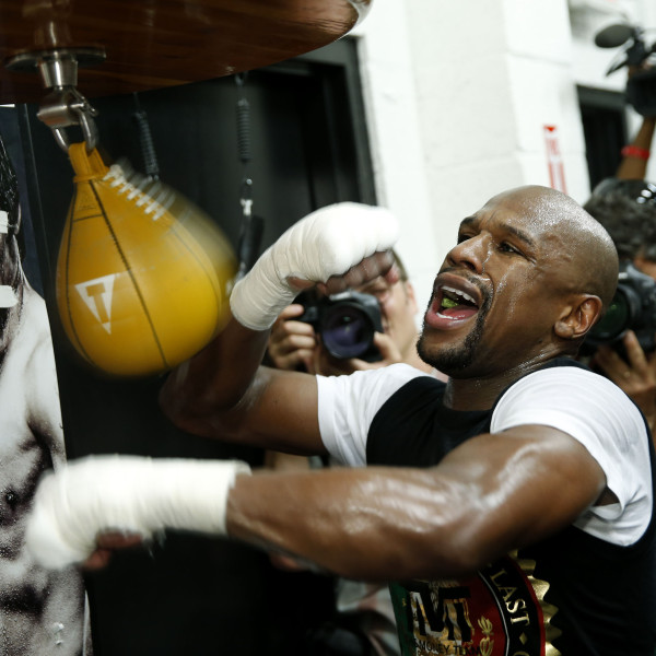 Floyd Mayweather vs Manny Pacquiao Floyd Mayweather's Work Out for the Press April 14, 2015 Photo credit: Will Hart
