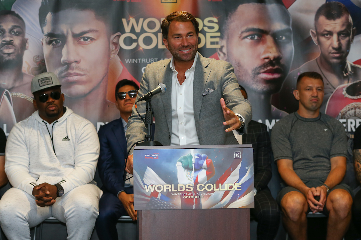 """Eddie Hearn On Deontay Wilder: """"If He Can't Show That Power Then He's Irrelevant"""""""