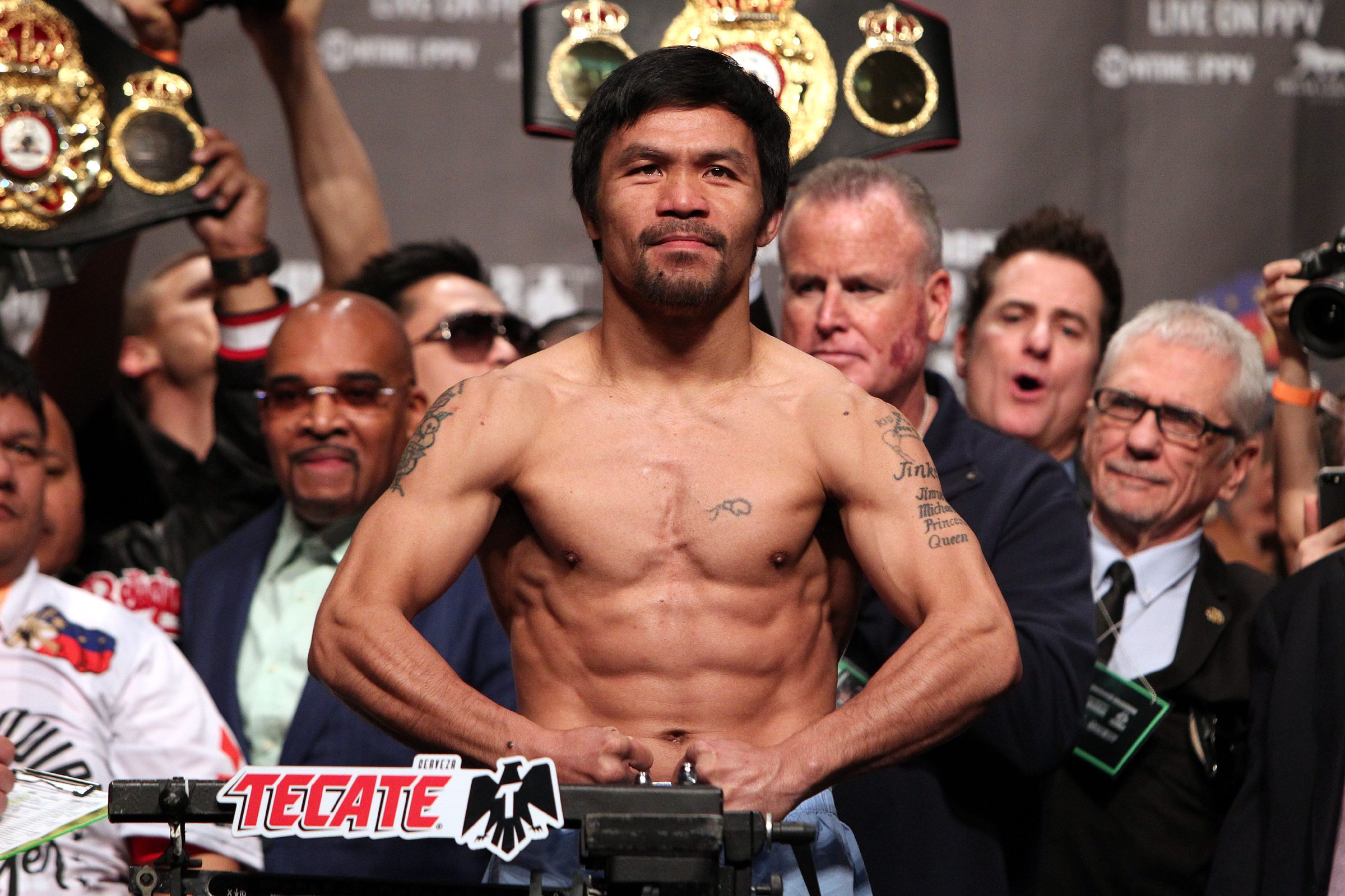 Pacquiao Broner weighin 190118 002 - A Happy Manny Pacquiao is a Dangerous Manny Pacquiao