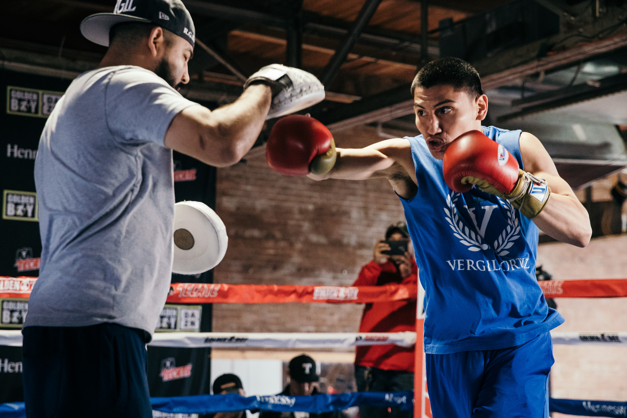 houston workout 0008 - Media Work Out: Jaime Munguia fights Takeshi Inoue Sat, Vergil Ortiz