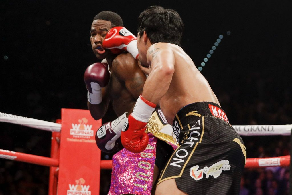 pac rd 5 1024x683 - Showtime PPV Round by Round Results: Pacquiao Dominates Broner Over 12 Rounds