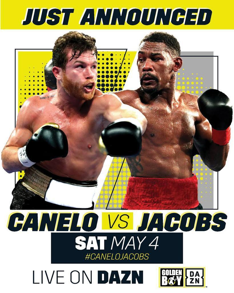 """thumbnail - Canelo Alvarez to Face Daniel """"Miracle Man"""" Jacobs in Middleweight Unification Bout"""
