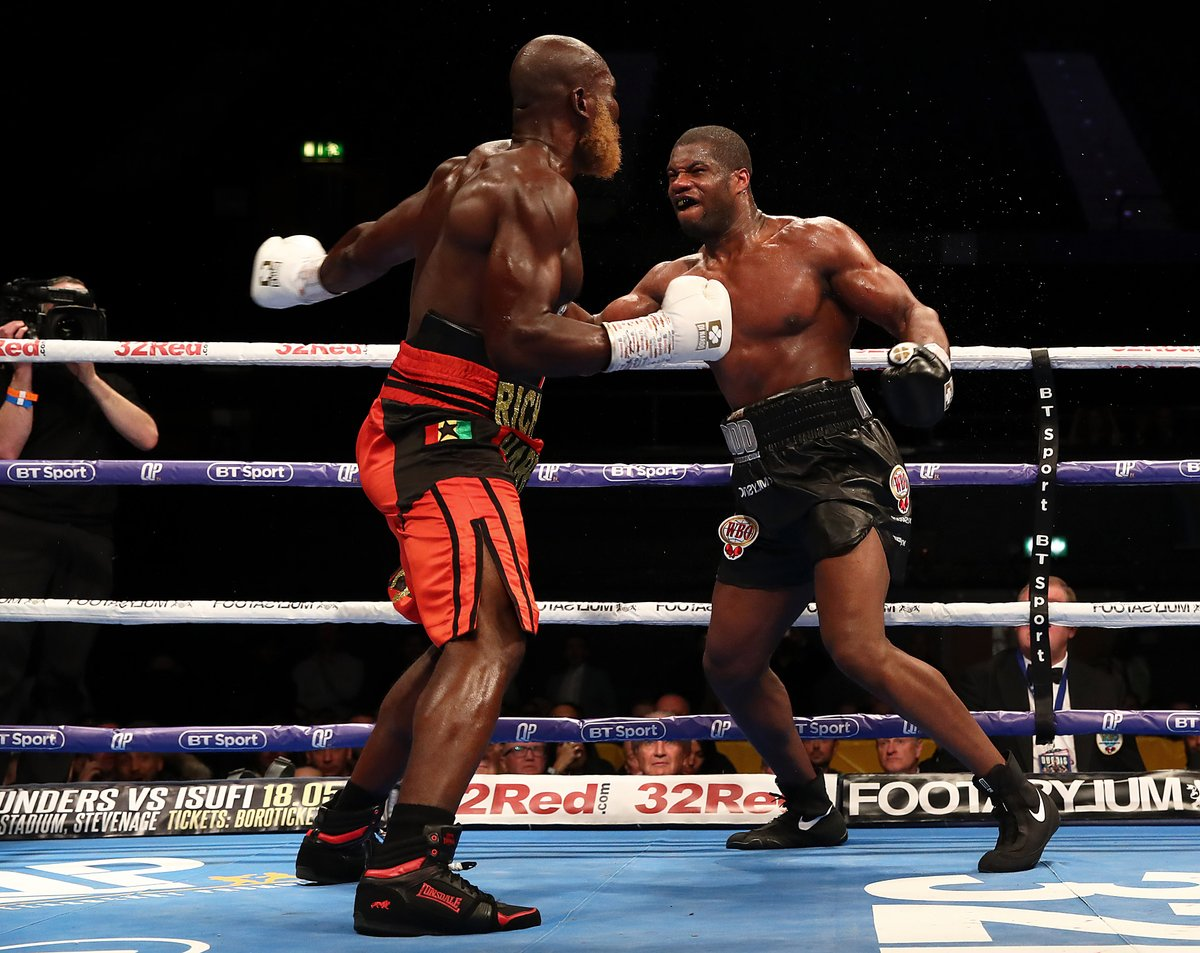 D5MhJk0W4AARY6s - Dubois Defeats Lartey, Richards and Edwards Ease to Victory