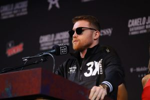 CaneloJacobsLVPC Hoganphotos8 300x200 - Canelo Has the Throne & Is Now Three Fights From Middleweight Immortality