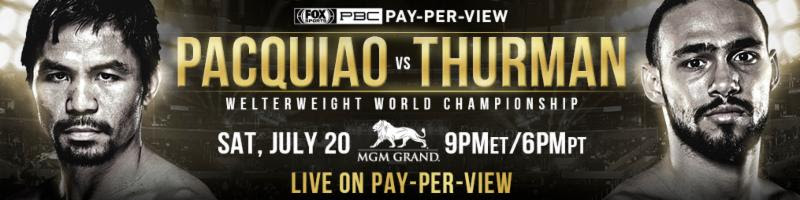 unnamed 9 - Press Release: Manny Pacquiao vs Keith Thurman July 20 on FOX PPV