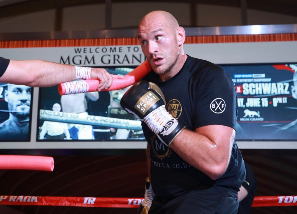 """Fury in the ring 1024x738 - Tyson Fury on Anthony Joshua Showdown: """"First Time I Connect, His Legs Will Do a Dance"""""""