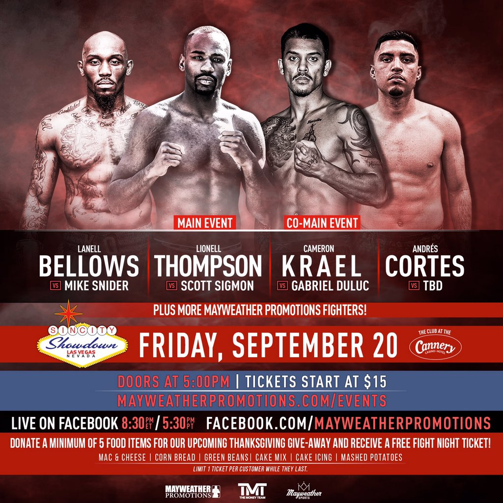 EEsLVEeUwAAB86r - Mayweather Promotions Fight Preview: Thompson vs. Sigmon