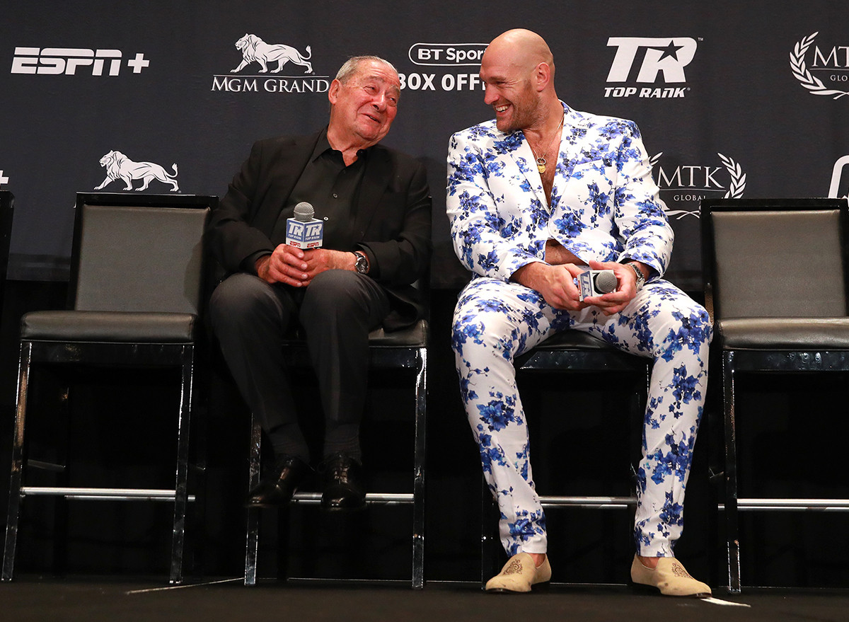 """Bob Arum and Fury - Bob Arum Responds To Deontay Wilder's Cheating Claim: """"He's Mimicking Donald Trump, In Other Words, He's Lying"""""""