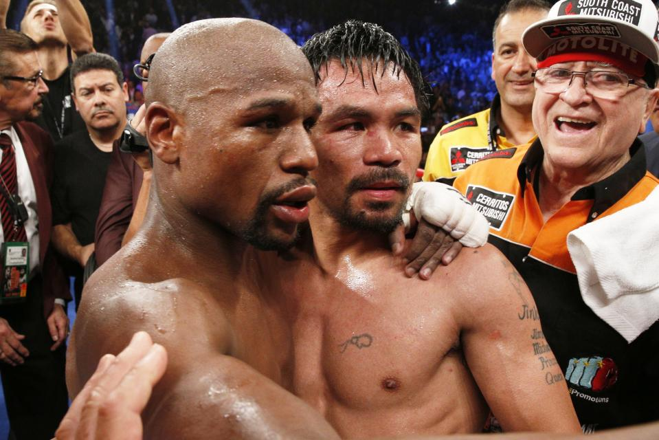 """Floyd and Manny - Floyd Mayweather Tired of Fighters Calling Out Manny Pacquiao: """"Don't Chase Him, You Young Guys Chase Each Other"""""""