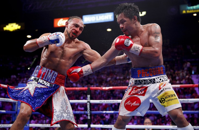 """Keith Thurman: """"I Saw Some Mitt Work From Pac Man, He Looks A Little Slower"""""""