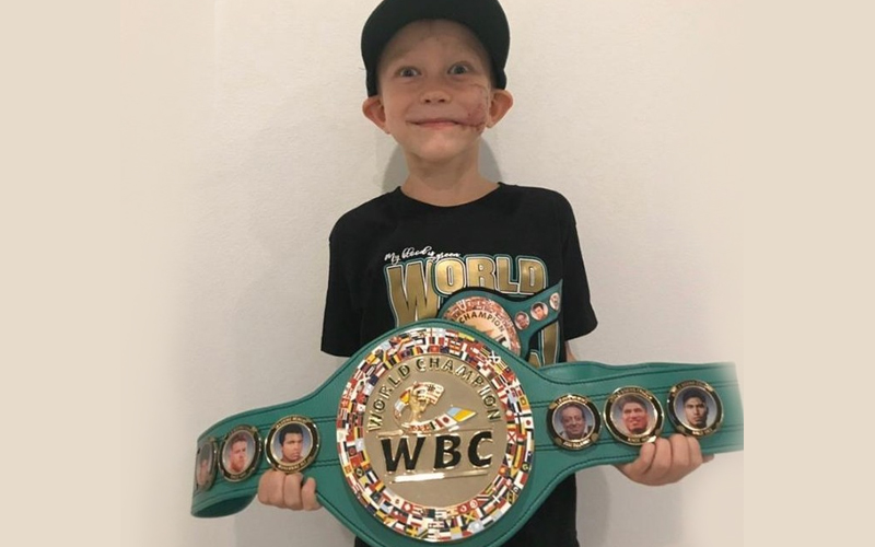 bridger - WBC Honors Young Hero With Honorary Green Belt