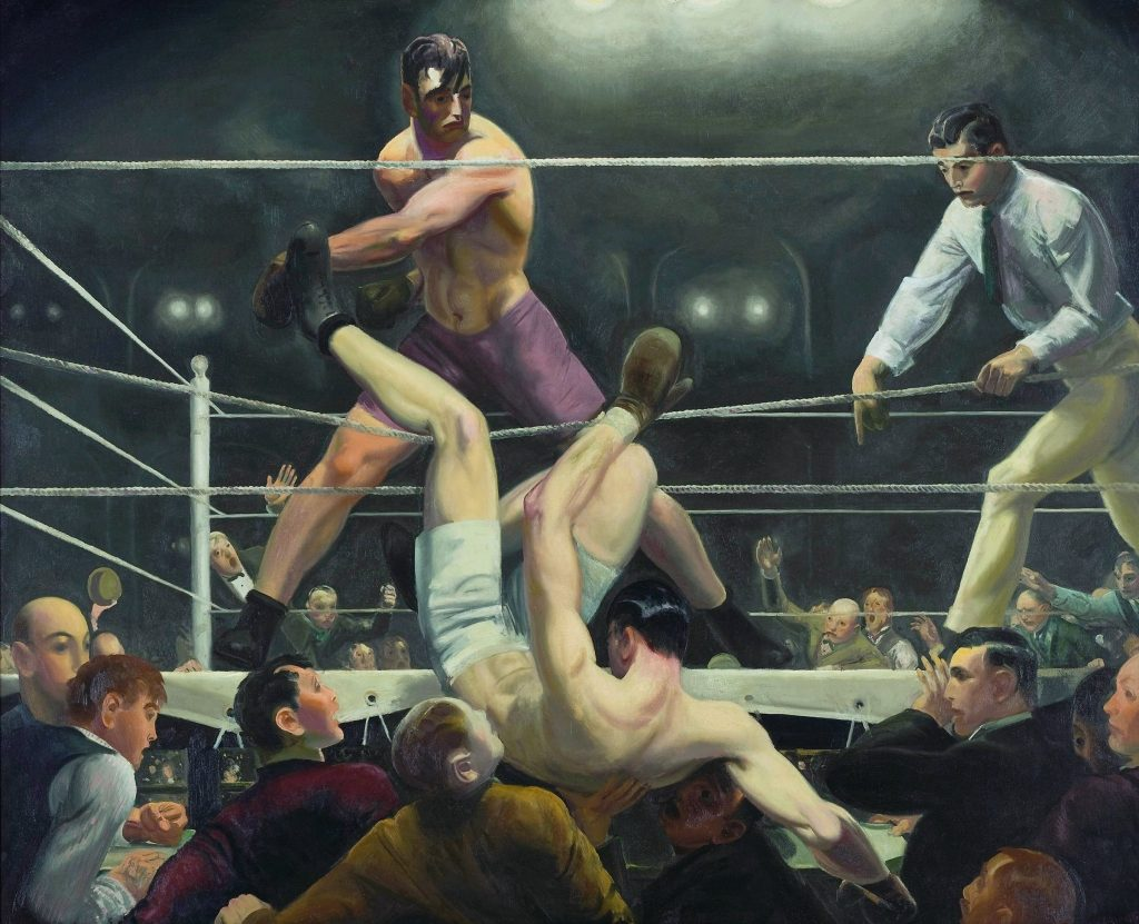 Bellows George Dempsey and Firpo 1924 1024x831 - The Wildest Heavyweight Title Match In History: Dempsey-Firpo