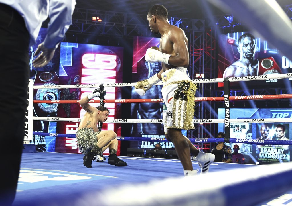 Jamel 1024x723 - ESPN+ Boxing Results: Jamel Herring Wins Via Ugly Disqualification Against Jonathan Oquendo