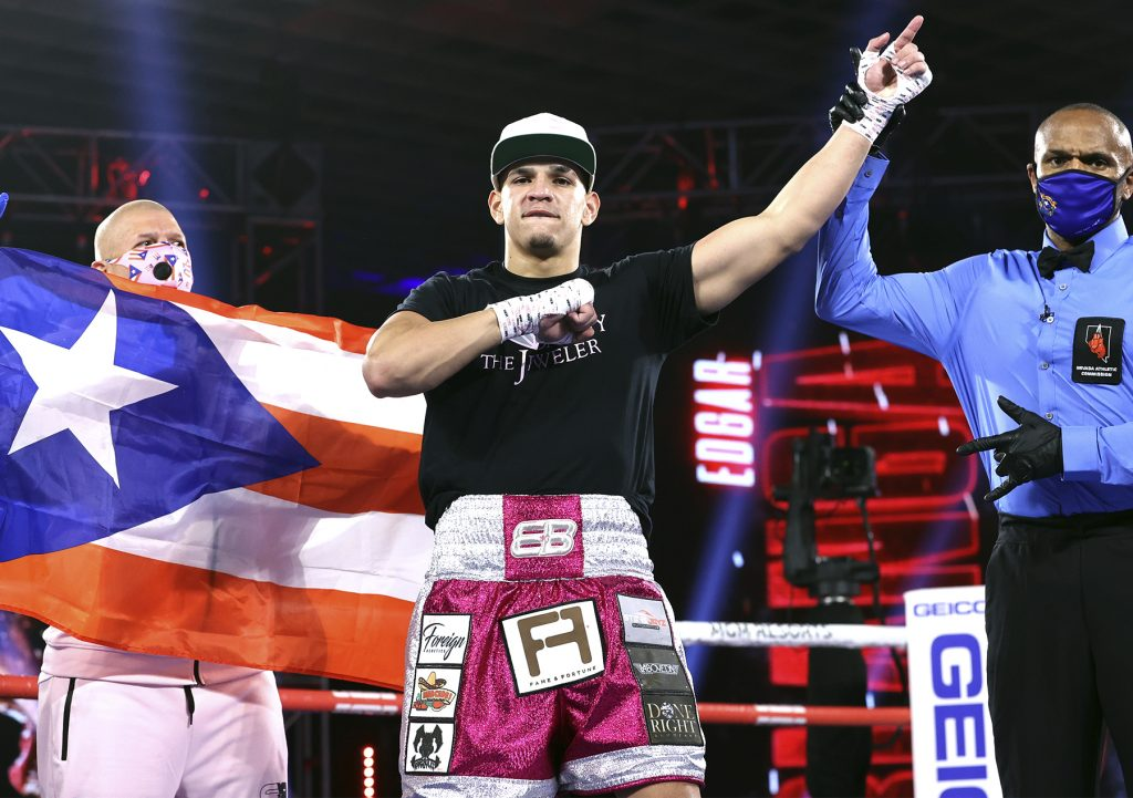 Berlanga1 1024x721 - Vasiliy Lomachenko vs Teofimo Lopez Undercard Results: Edgar Berlanga Wins In The 1st Round Again, This Time Against Lanell Bellows