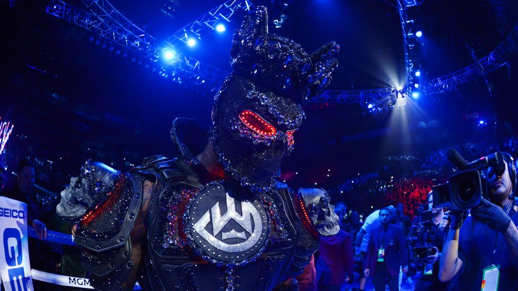 """Wilder Costume 1 1024x576 - Deontay Wilder Back Tracks From Previous Costume Claims: """"It had a little weight on it, But It wasn't enough to cause me to not have my legs"""""""