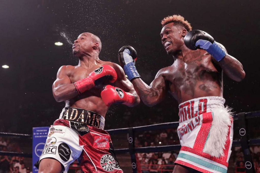 Jermall Charlo Punches Adams