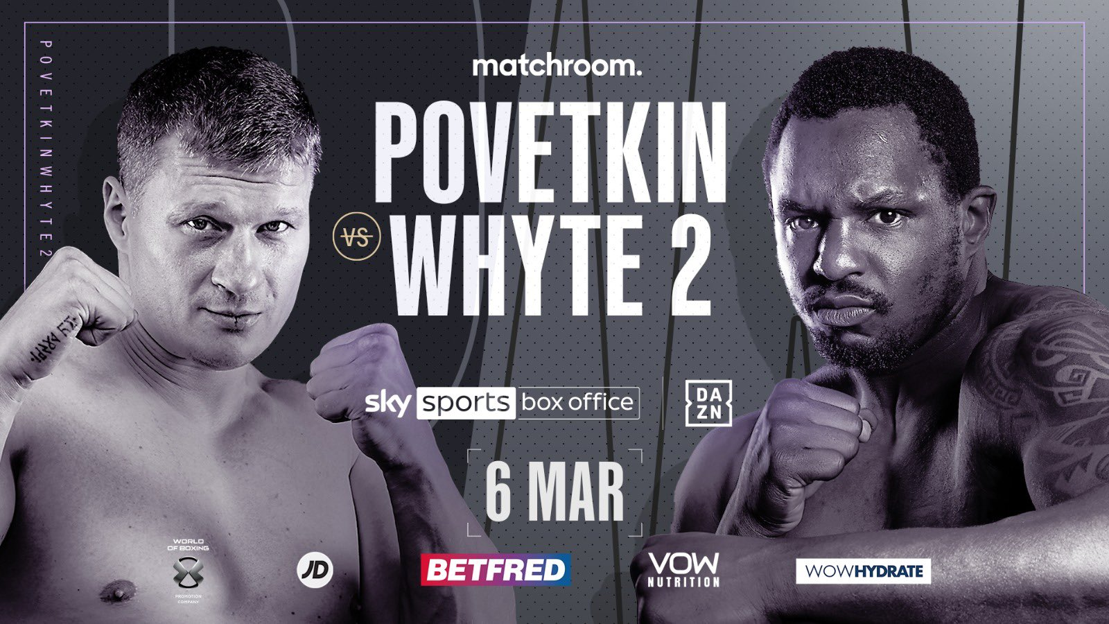 Dillian Whyte vs Alexander Povetkin 2 Takes Place March 6th