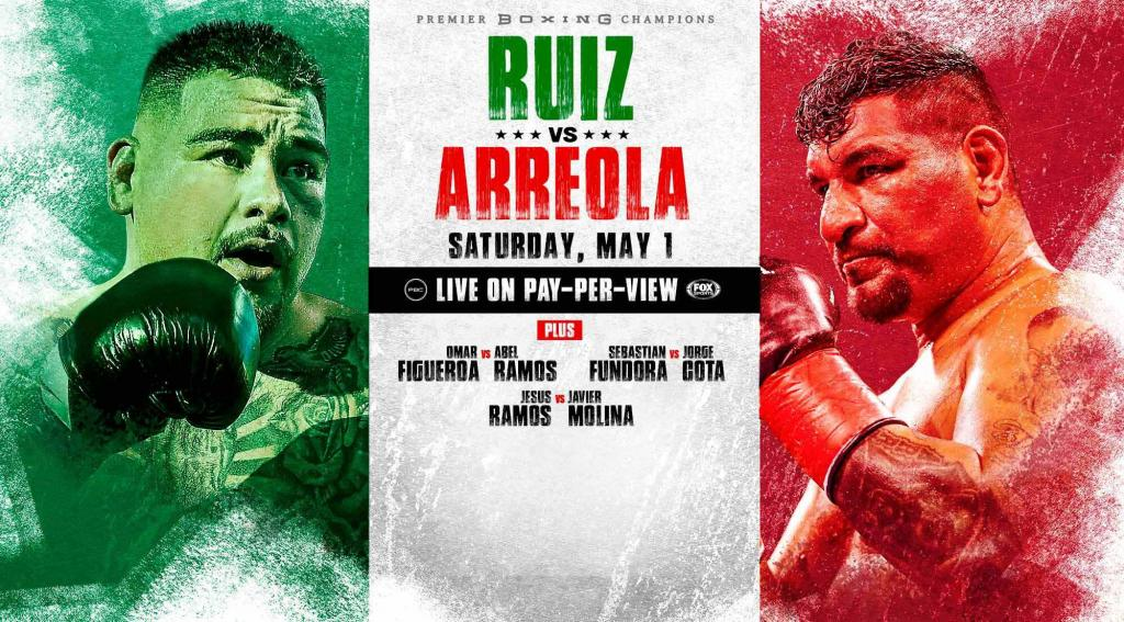 Andy Ruiz-Chris Arreola Pay Per View Card Now To Go Down May 1st