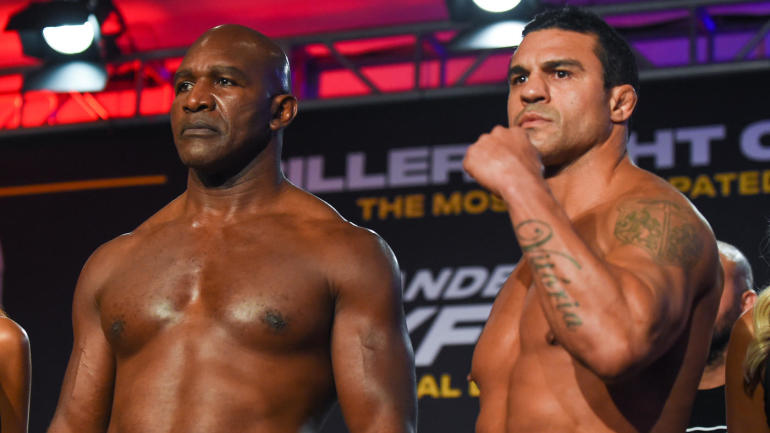 Evander Holyfield Knocked Out In First Round By Vitor Belfort
